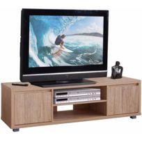 COMFORIUM - Meuble Tv-hifi coloris sonoma clair 140 cm