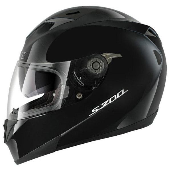 casque moto intégral polycarbonate S700 Prime noir brillant Promo