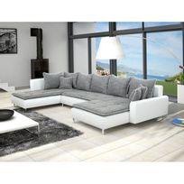 Meublesline Canapé Panoramique Dante 6 Places Tissu Et