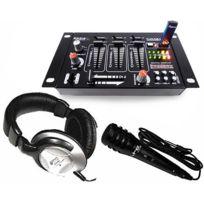 Ibiza Sound - Pack First-mix avec table de mix Casque & micro