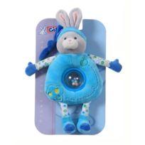 Gipsy - 070136 - Doudou - Doudou Boule Pomme - Lapin - Turquoise - 24 Cm