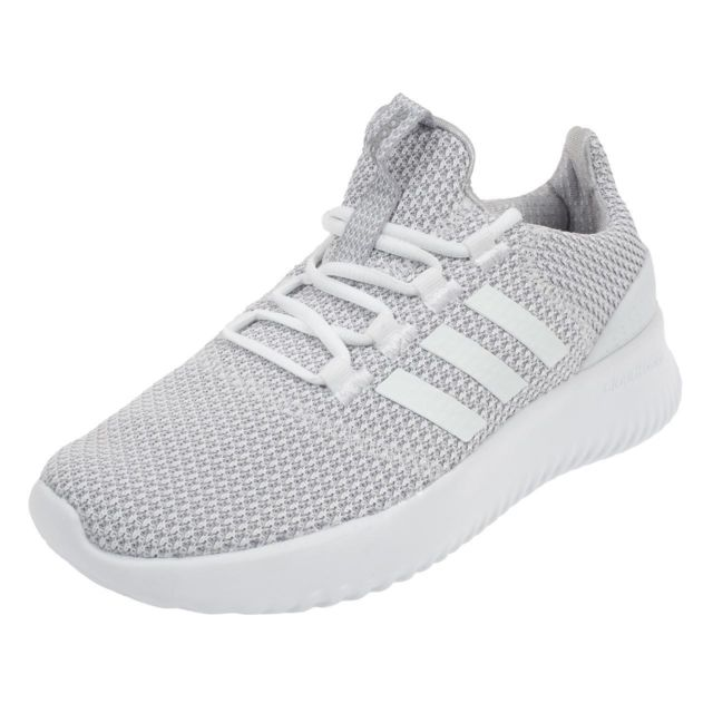32f73838c1861 Adidas Neo - Chaussures running mode Cloudfoam ultimate Blanc 76556 - pas  cher Achat   Vente Baskets enfant - RueDuCommerce