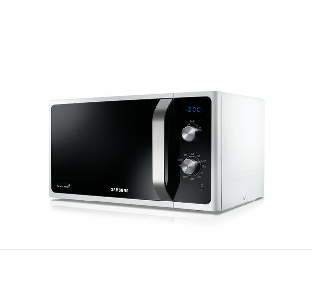 Samsung - Micro-ondes gril - MG23F301EAW - Blanc Blanc , porte noire
