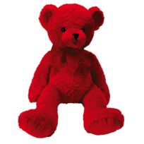 No Name - Peluche Ourson Rouge - 45cm