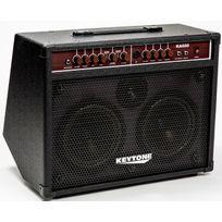 Keytone - Ampli Guitare électro-acoustique noir 2 Canaux Prise micro, Reverb et Chorus