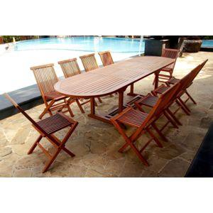 concept usine salon de jardin teck massif 39 huil 39 12 14 pers chaises table ovale 300cm bois. Black Bedroom Furniture Sets. Home Design Ideas