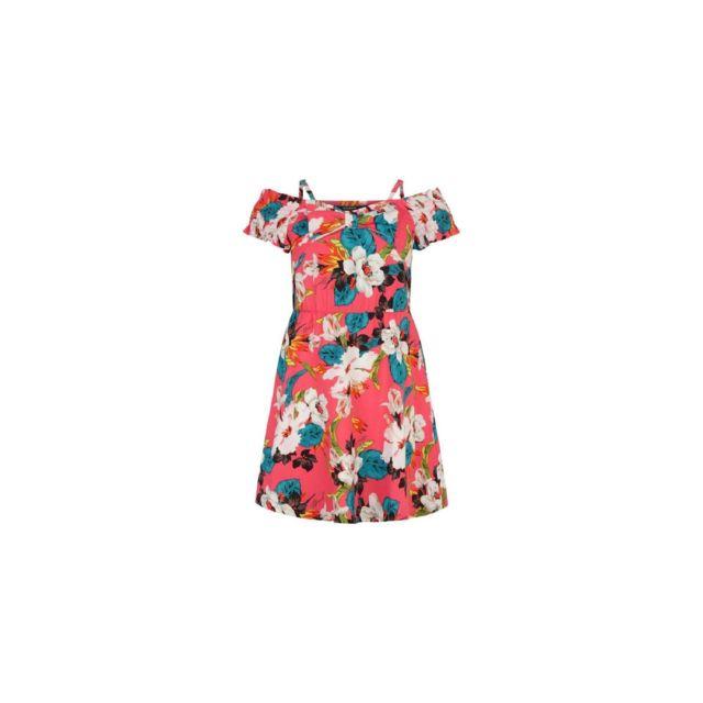 ca18e2413feff Guess - Robe Fille Imprimé Floral Rose - Taille - 16 ans - pas cher Achat    Vente Robe enfant - RueDuCommerce