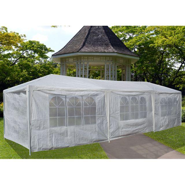 concept usine tente de jardin pergola 3x9m toile blanche. Black Bedroom Furniture Sets. Home Design Ideas