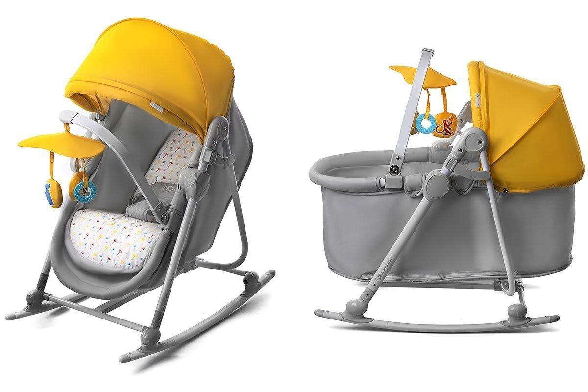 Transat balancelle siège lit berceau enfant bébé 0-18kg Unimo 5en1 | Jaune