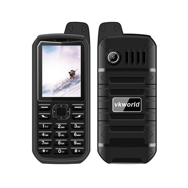 Auto-hightech Téléphone portable etanche Robuste Ip54 Double Sim Radio Fm Noir
