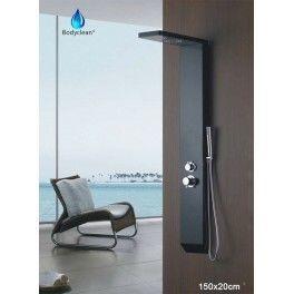 desineo colonne de douche baln o 3 fonctions 150x20cm a110 pluie hydrojet classique pas. Black Bedroom Furniture Sets. Home Design Ideas