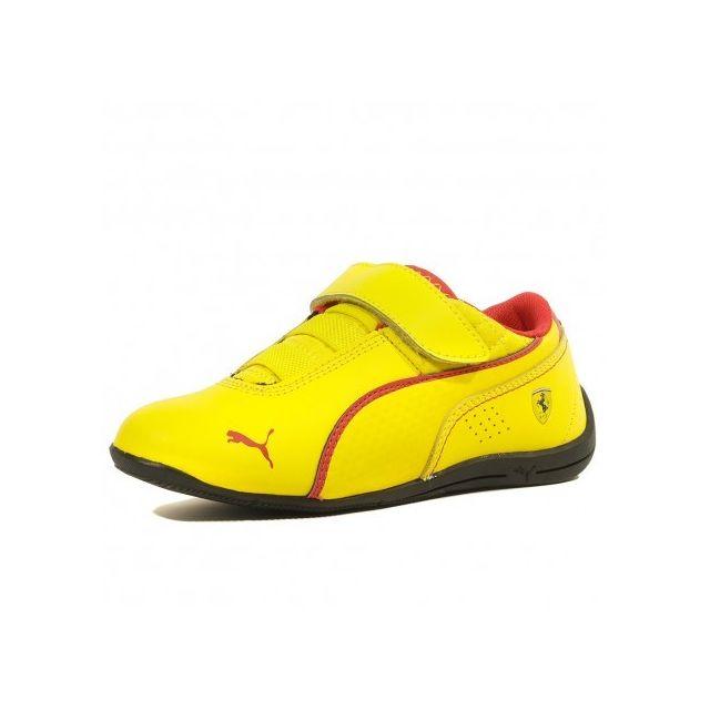 basket puma ferrari homme jaune
