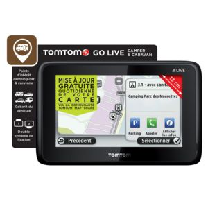 tomtom gps camping car caravane go live europe achat. Black Bedroom Furniture Sets. Home Design Ideas