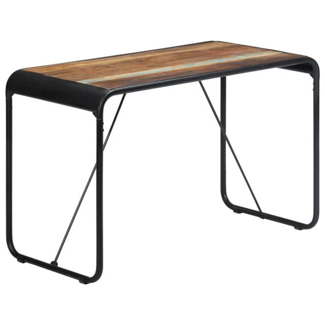 Vidaxl Table de Salle à Manger 118x60x76cm Bois de Récupération Massif Dîner