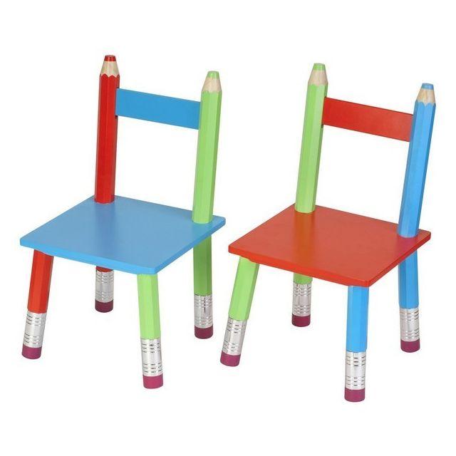 Enfant Chaise Cher Originale Longue Crayons La Pas Achat 7Ybf6gy