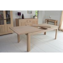 table chene blanchi - achat table chene blanchi pas cher - soldes