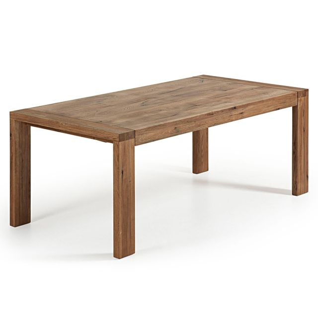 Kavehome Table extensible Brion, vieilli 200 280, x100 cm