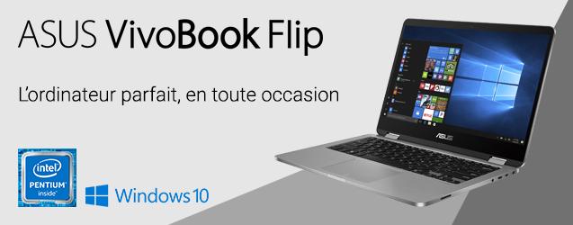 achat asus vivobook flip tp401na gris ordinateur portable 14. Black Bedroom Furniture Sets. Home Design Ideas