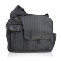 Diaper Dude - Dd-ms2-PS100 Pinstripe Messenger Ii Bag, Schwarz