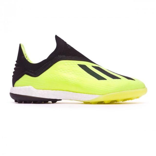 668d845b5f90bd Adidas - X Tango 18+ Turf Solar yellow-Core black-White - pas cher Achat    Vente Chaussures foot - RueDuCommerce