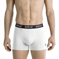 Replay - Boxer Homme Coton Uni Blanc Fc Barcelone