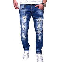 Justing - Jeans homme déchiré Jeans 1226 bleu