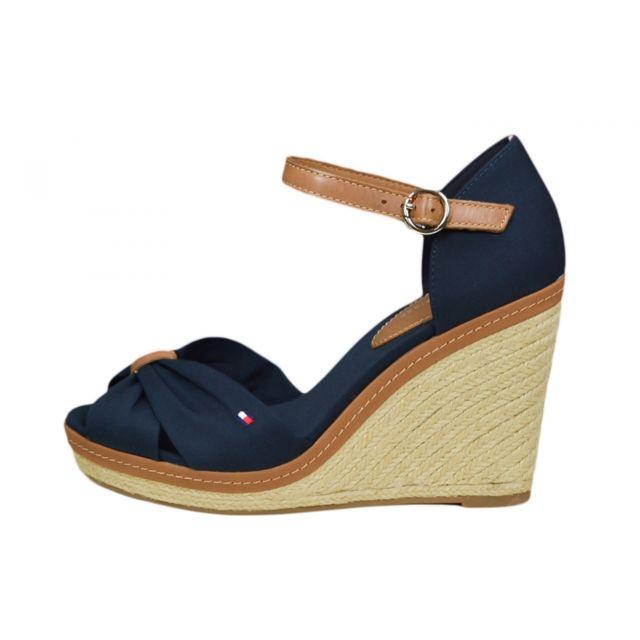 Tommy hilfiger , Chaussures compensées Elena bleu marine pour femme