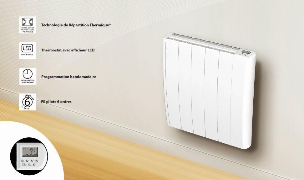 carrera  radiateur à inertie céramique celia lcd 1500w