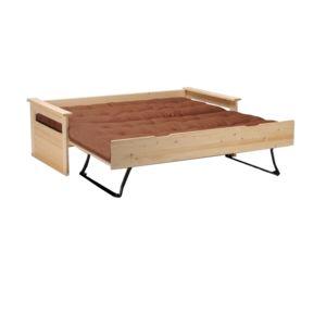 alin a tema lit banquette gigogne naturel 90x190cm pas cher achat vente lit enfant. Black Bedroom Furniture Sets. Home Design Ideas