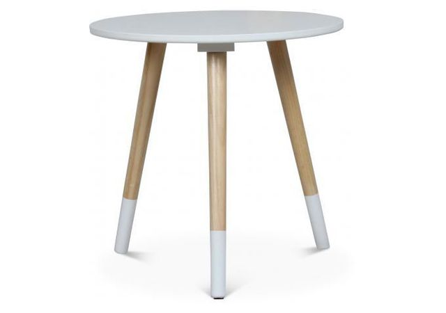Declikdeco Table Basse Style Scandinave Blanche D40xh40 Teodor