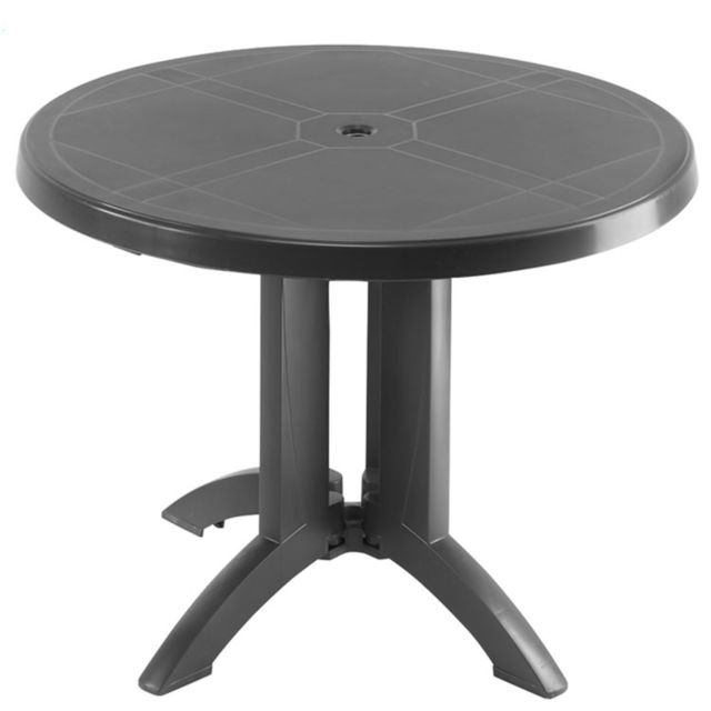 GrosFillex - Table de Jardin Vega Anthracite Ø 98 cm - pas ...