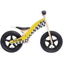 "Rebel Kidz - Vélo Enfant - Wood Air - Draisienne - 12"" Taxi jaune"
