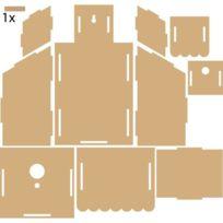 La Fourmi - Nichoir 2 étages en Mdf 15,6 x 28 x 10,4 cm