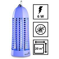 Plein Air - Lampe piege anti moustique Zap6 violet laqué - Décharge électrique 1000V - Champ action 20 m2