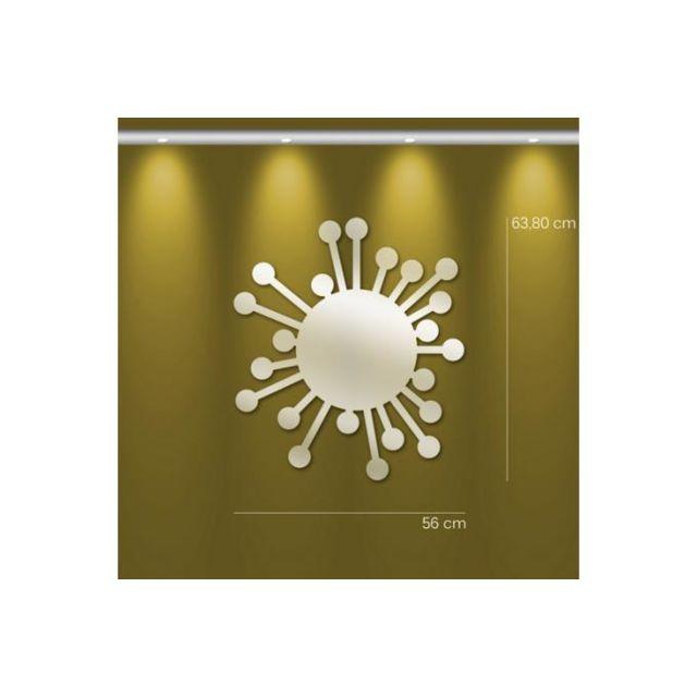 Declikdeco Miroir soleil Mm argenté en plexiglas Ulrica 64 x 56 cm