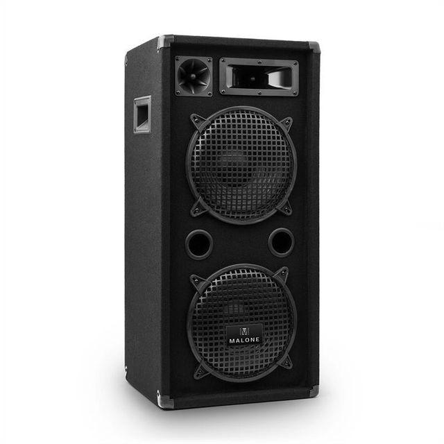 MALONE Enceinte Passive DJ PA Sono 3 Voies 2x 25cm 10