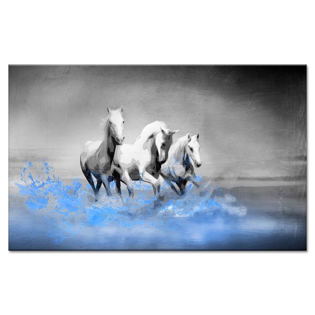 Declina - Tableau pour chambre chevaux au galop - Toile ...
