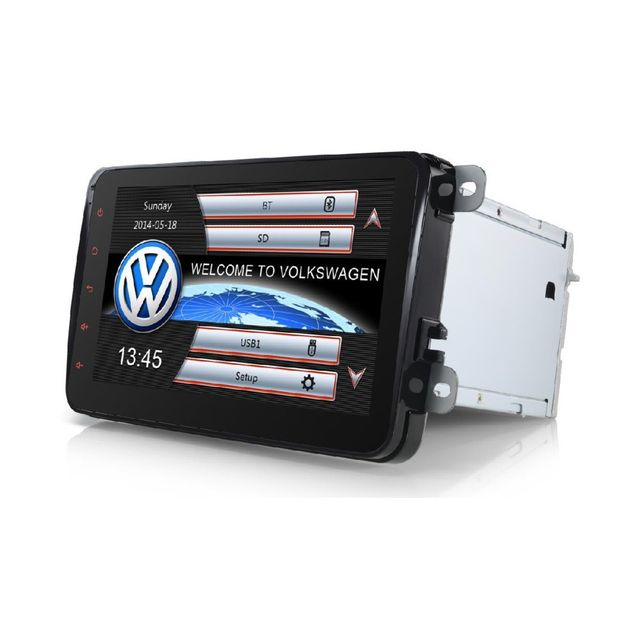Auto-hightech Autoradio Gps Golf Eos,Passat Jetta Caddy Tiguan Touran Sharan Scirocco Beetle Amarok T5 Multivan Transporter Polo