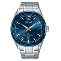 Pulsar - Montre Homme modèle Sport Bleue et Argentée - Ps9515X1 - Promo - En Soldes