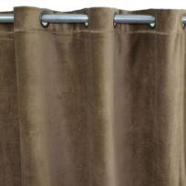 MonbeauRideau - Rideau Arthur à oeillets 150x260cm, Taupe • Velours de coton