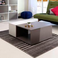Symbiosis - Table basse en bois rectangulaire Longueur 89 cm Paula