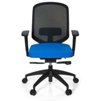 Hjh Office - Chaise de bureau Delight Pro tissu maille bleu