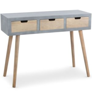 menzzo console scandinave 3 tiroirs tatum gris pas cher achat vente meubles tv hi fi. Black Bedroom Furniture Sets. Home Design Ideas