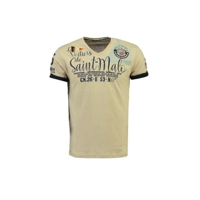 Tshirt Homme Geographical Norway Jidney Beige