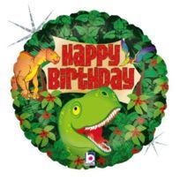 "Betallic - F86747P - 18 ""HAPPY Birthday Ballon Les Saurien, Holographique"