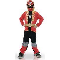 Power Rangers - Déguisement Classique Rouge Super Mega Force