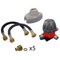 Addax - Connectique propane Coffret Bi Bouteille Propane 4 Kg
