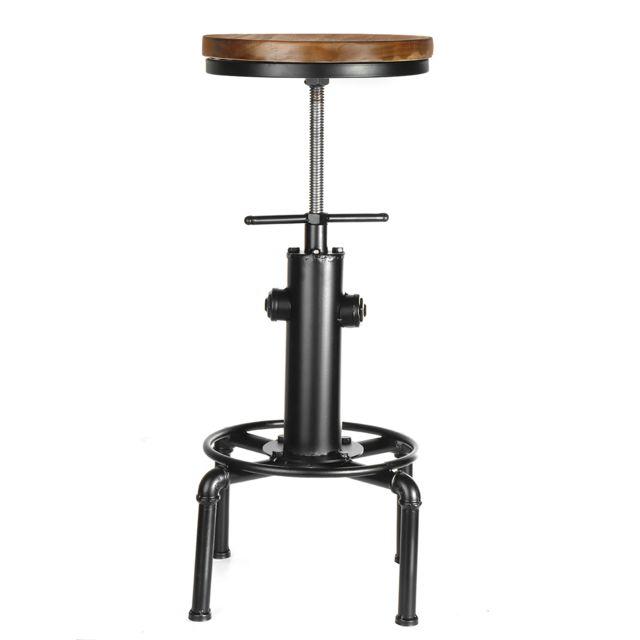 Insma Chaise siège réglable tabouret de bar industriel