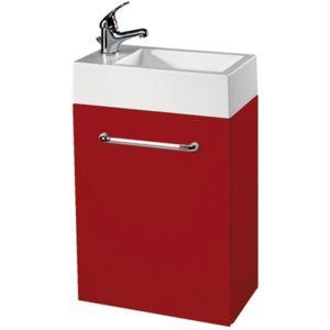 meuble lave mains rouge pas cher achat vente meubles de salle de bain rueducommerce. Black Bedroom Furniture Sets. Home Design Ideas