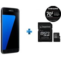 Galaxy S7 Edge Noir + Carte microSDHC Kingston 32 Go Class 10 UHS-I 45MB/s Read Card + SD Adapter SDC10G2/32GB